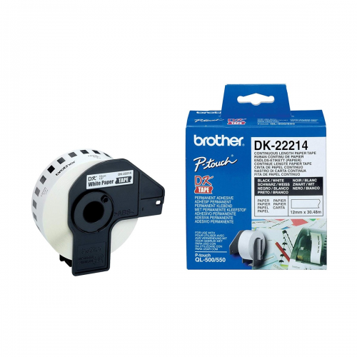 Brother DK-22214 (12mm X 30m) Continuous Paper Label Roll