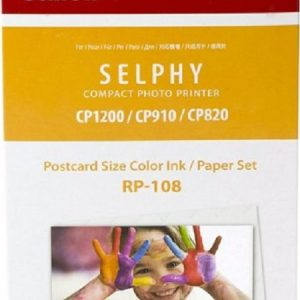 Canon RP-108 Postcard Size Color Ink/Paper Set