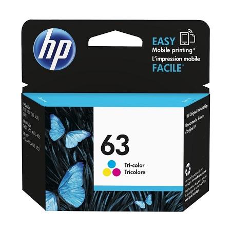 HP 63 Tri-color Original Ink Cartridge (F6U61AN)